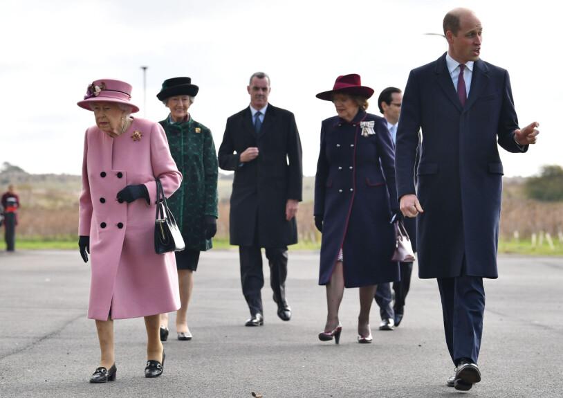 Drottning Elizabeth och prins William