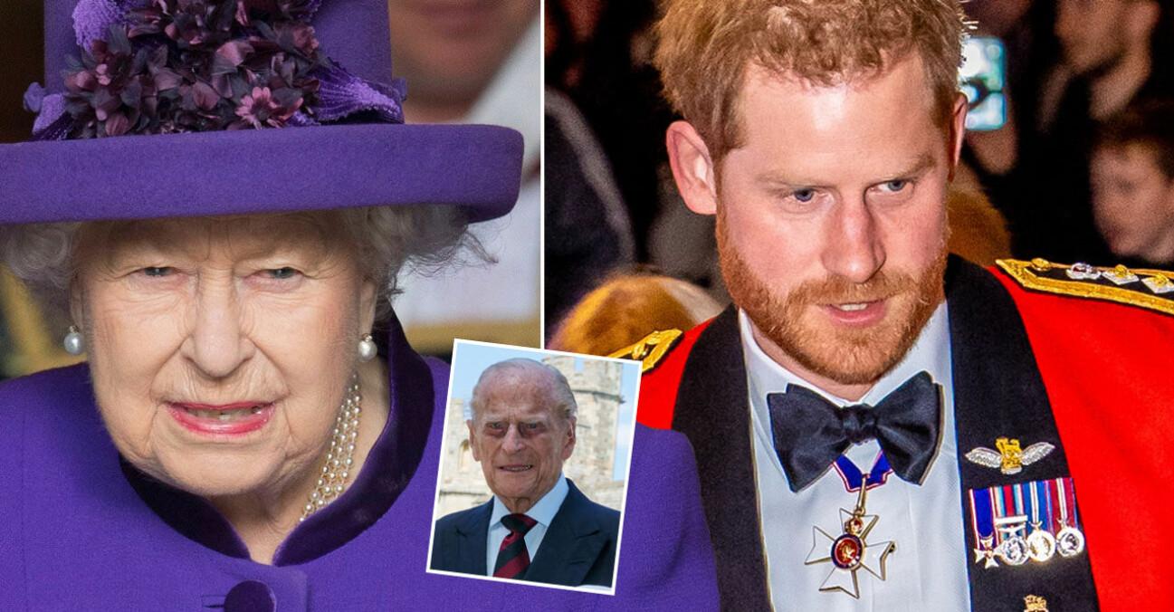 Drottning Elizabeth Prins Harry Prins Philip