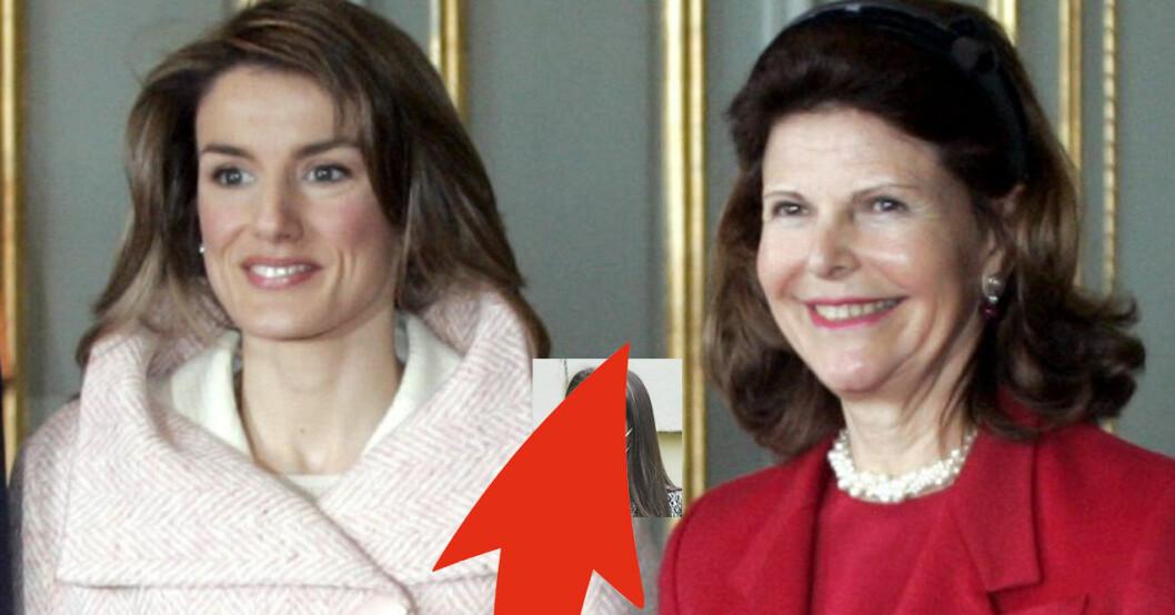 Drottning Letizia och drottning Silvia