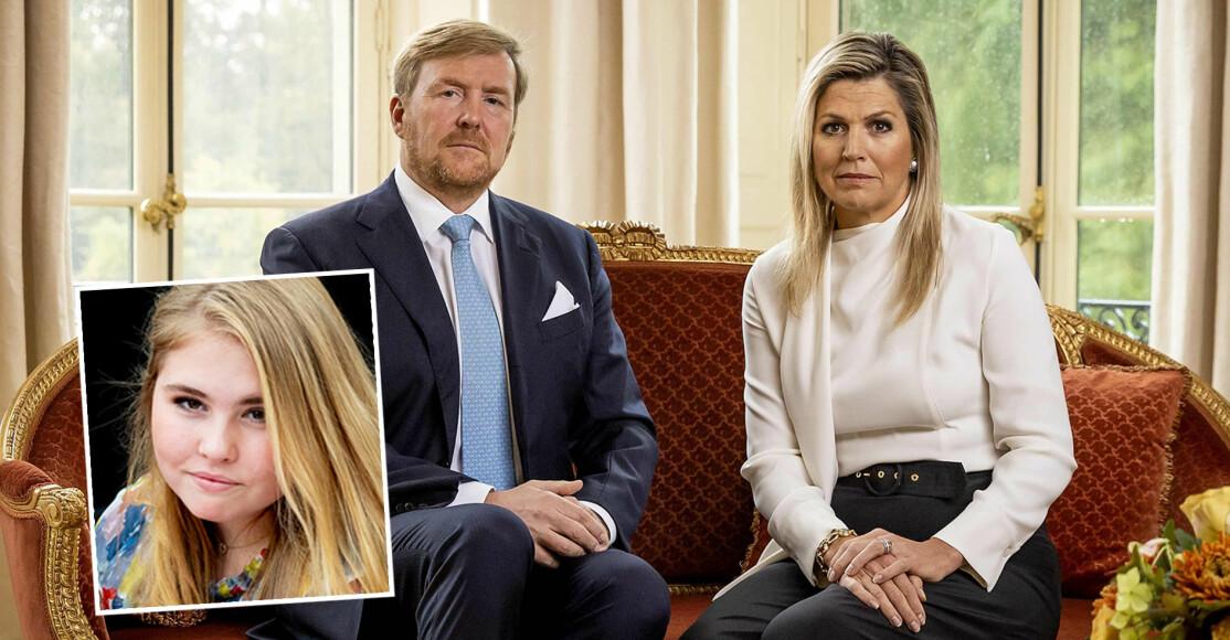 Drottning Máxima Kung Willem-Alexander Kronprinsessan Catharina-Amalia Prinsessan Amalia