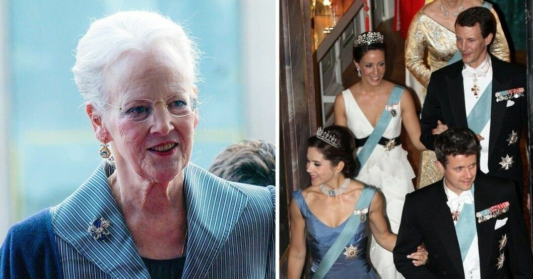 Drottning Margrethe och kronprinsessan Mary