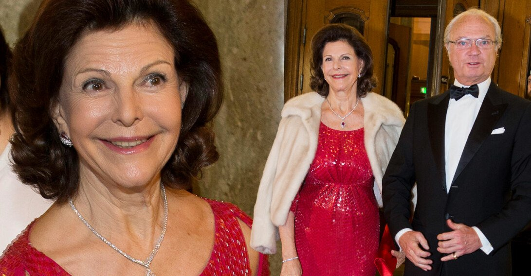 Drottning Silva Kungen Drottningen födelsedag firande