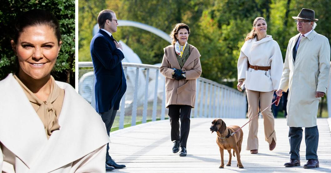 Kronprinsessan Victoria prins Daniel drottning Silvia kungen hunden Brandie
