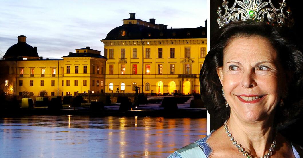 Drottning Silvia Kungen Drottningholms slott Privata våning bostad Drottningholm