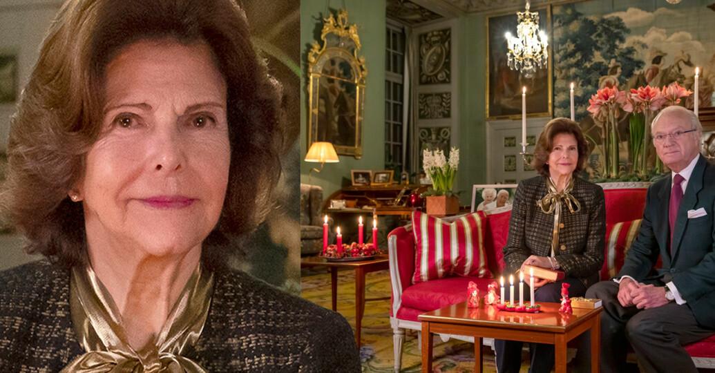 Drottning Silvia Kungen Kungaparet Stensalen Drottningholm Drottningholms slott Advent Julen 2020