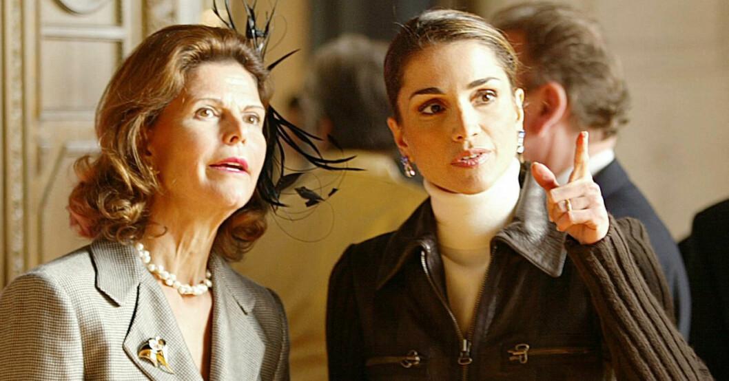 Drottning Silvia och drottning Rania