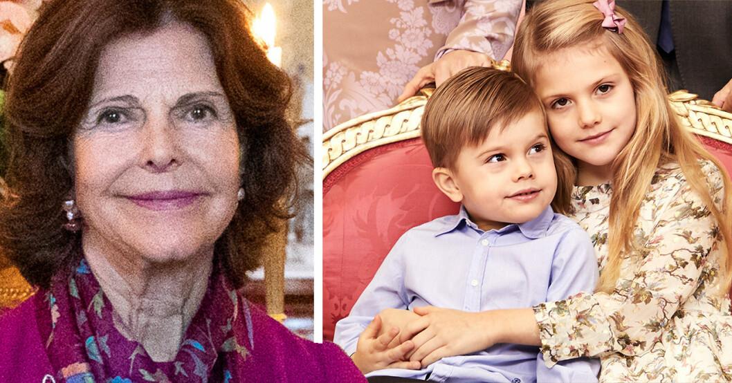 Drottning Silvia prins Oscar prinsessan Estelle