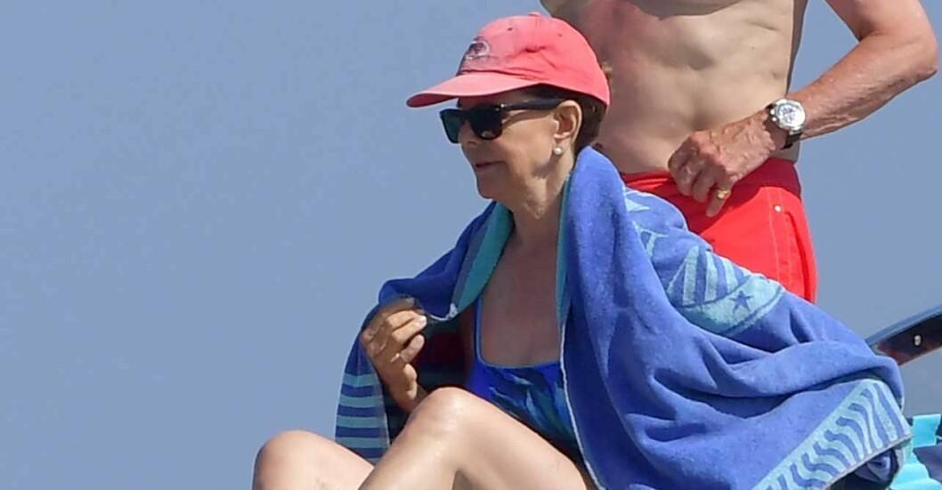 Drottning Silvia på båten Polaris
