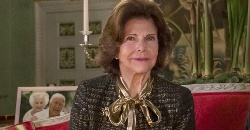 Drottning Silvia Prins Bertil Prinsessan Lilian Drottningholm Drottningholms slott Stensalen Advent Julen 2020