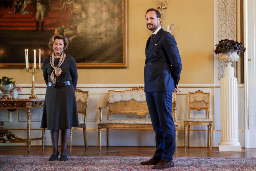 Drottning Sonja Kronprins Haakon Skaugum