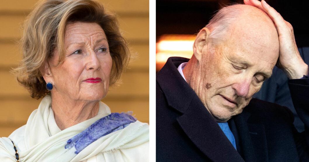 Drottning Sonja och kung Harald.
