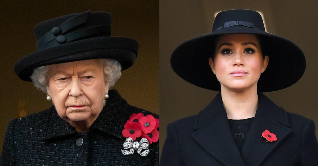 Drottningen och Meghan Markle.