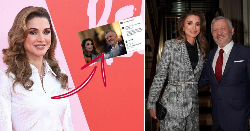 drottning ranias kärlekshyllning till Abdullah