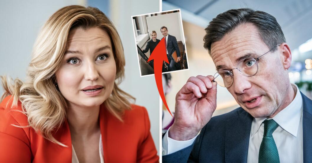 Ebba Busch och Ulf Kristersson