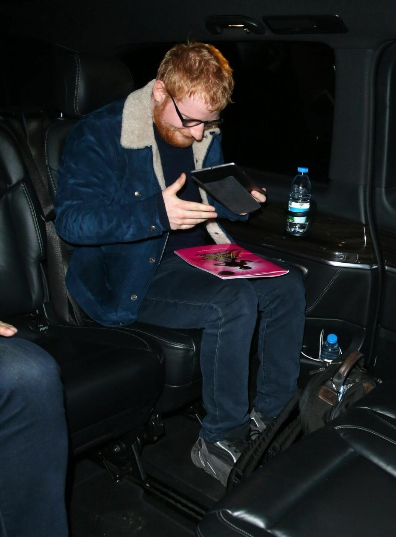 Ed Sheeran på premiären av & Juliet