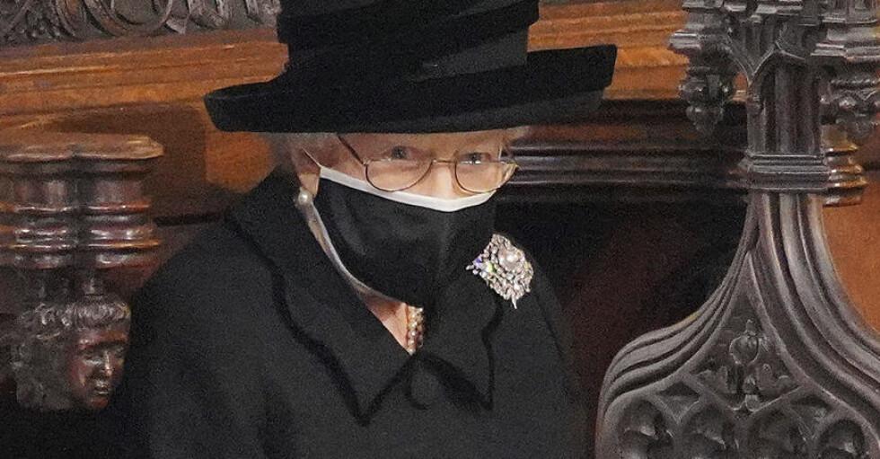 Drottning Elizabeth tårfyllda avsked av prins Philip
