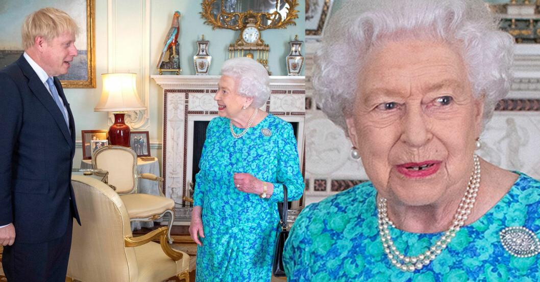 Drottning Elizabeth med premiärminister Boris Johnson.