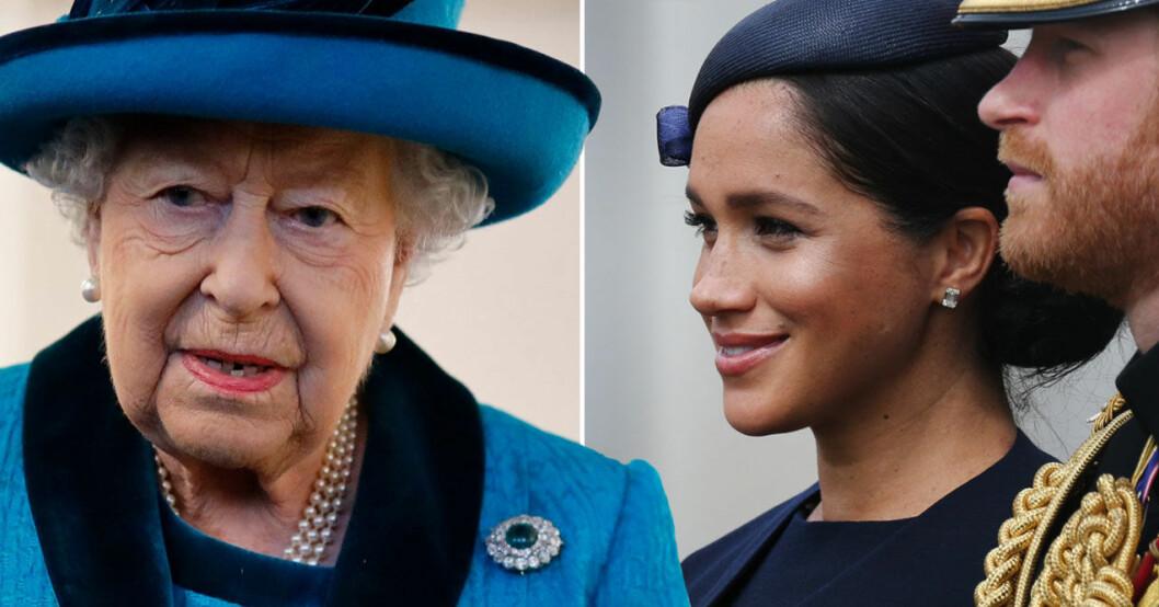 Drottning Elizabeth Meghan Markle Prins Harry