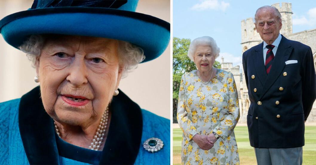 Drottning Elizabeth och prins Philip
