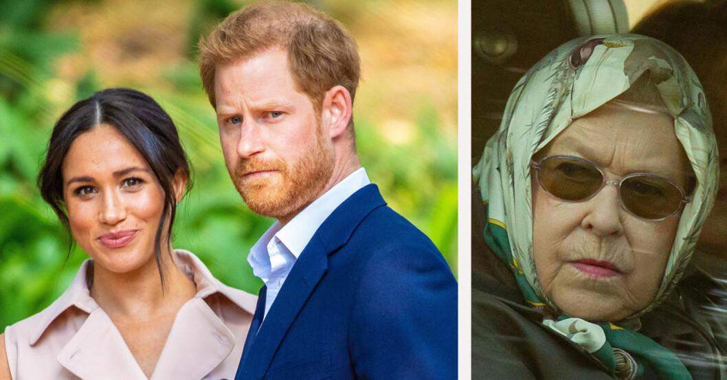 Meghan Markle, prins Harry, drottning Elizabeth