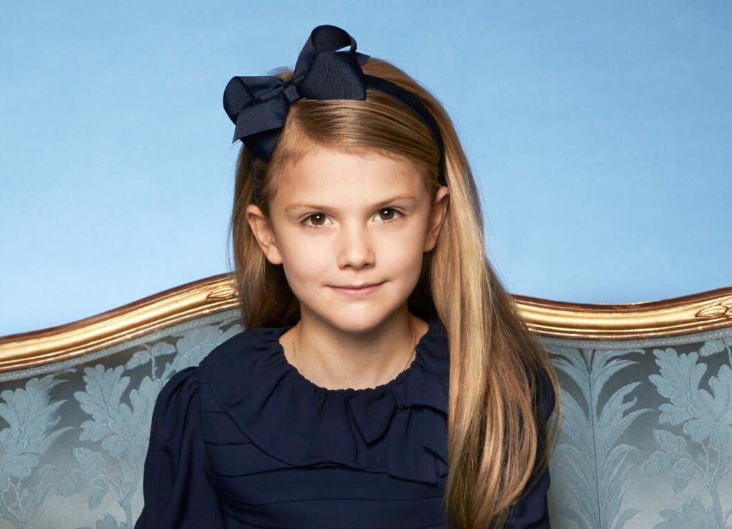Prinsessan Estelle, snart åtta år.