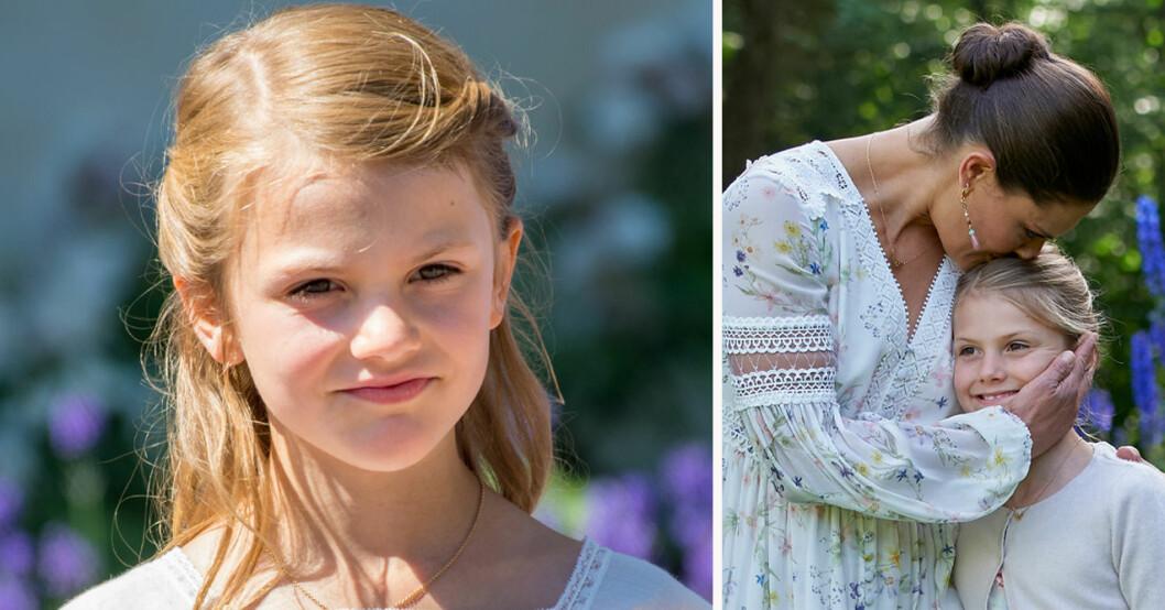 Prinsessan Estelle och kronprinsessan Victoria