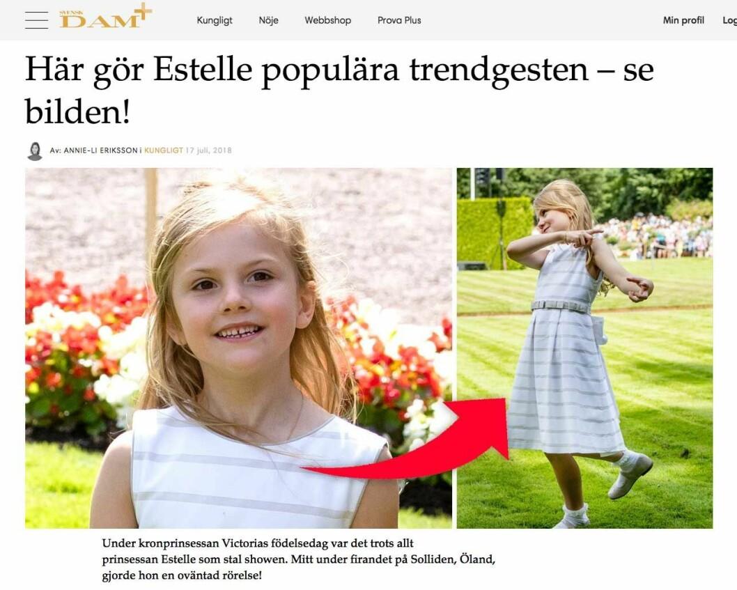 Här gör Estelle populära trendgesten – se bilden!