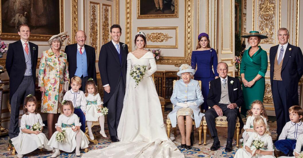 Det officiella bröllopsfotot från prinsessan Eugenies bröllop med Jack Brooksbank.