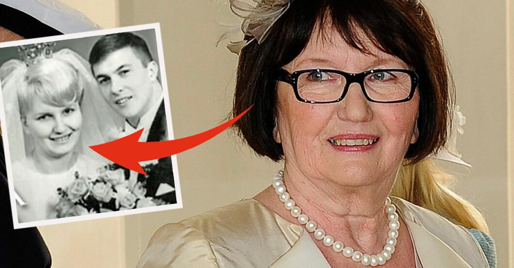 Ewa Westling född Westring Olle Westling nygifta. Bröllopsbilden 1967.