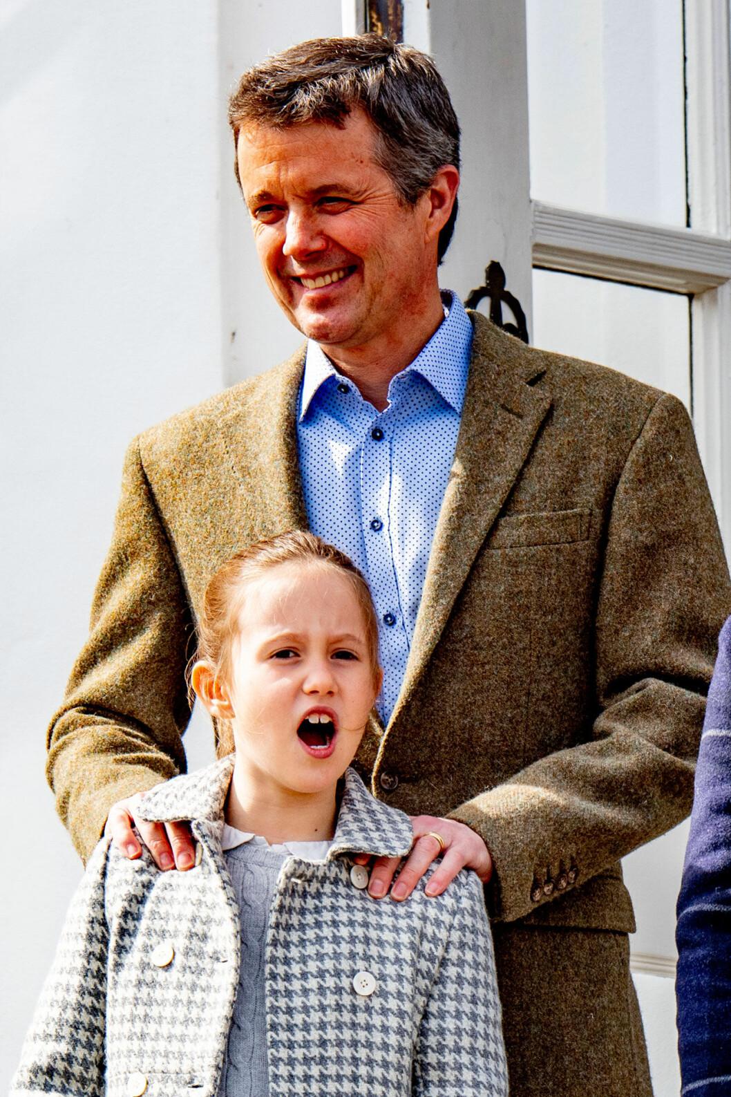 Kronprins Frederik med prinsessan Josephine.