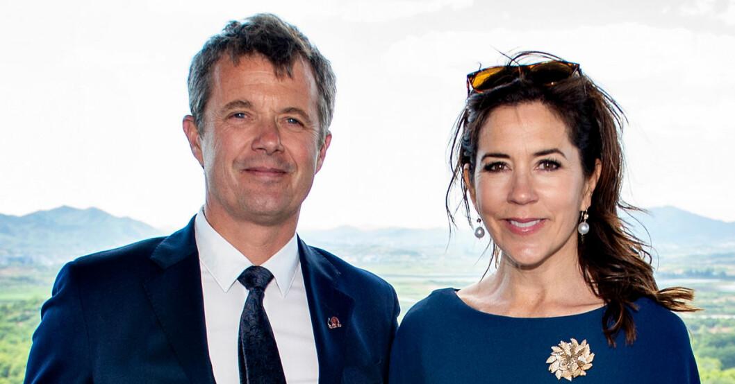 Kronprins Frederik och kronprinsessan Mary