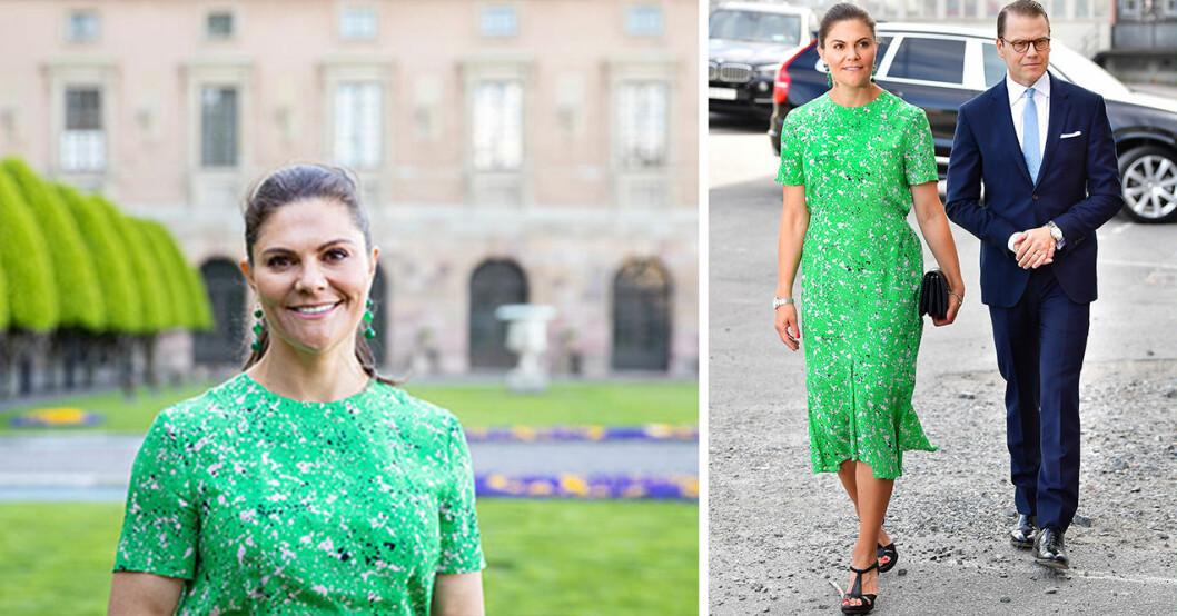 Kronprinsessan Victoria i klänning från Tiger of Sweden