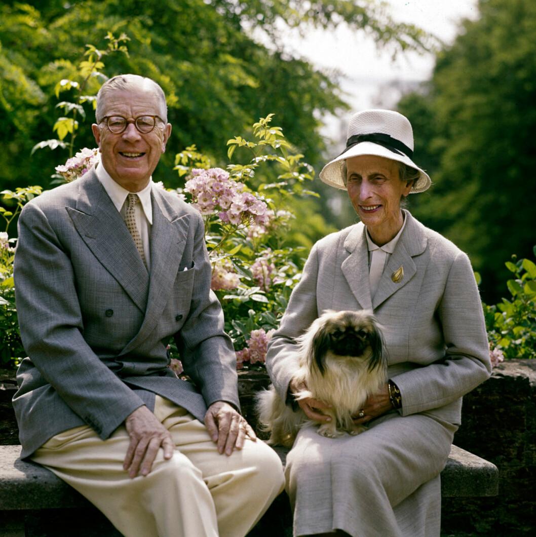 Gamle kungen Gustaf VI Adolf och drottning Louise.