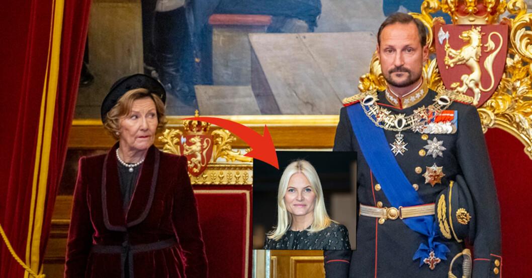 Kronprins Haakon Drottning Sonja Stortinget