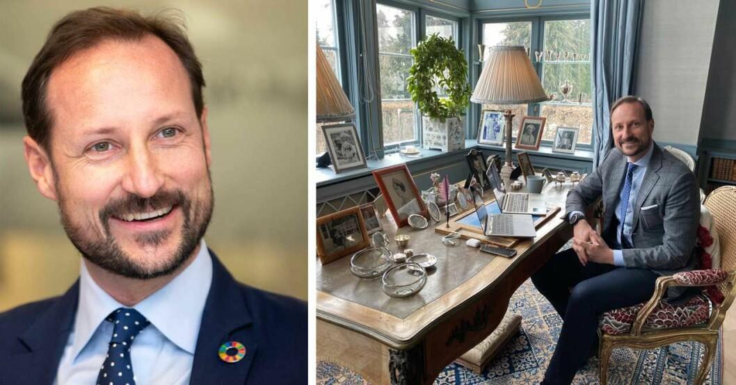 Kronprins Haakons skrivbord