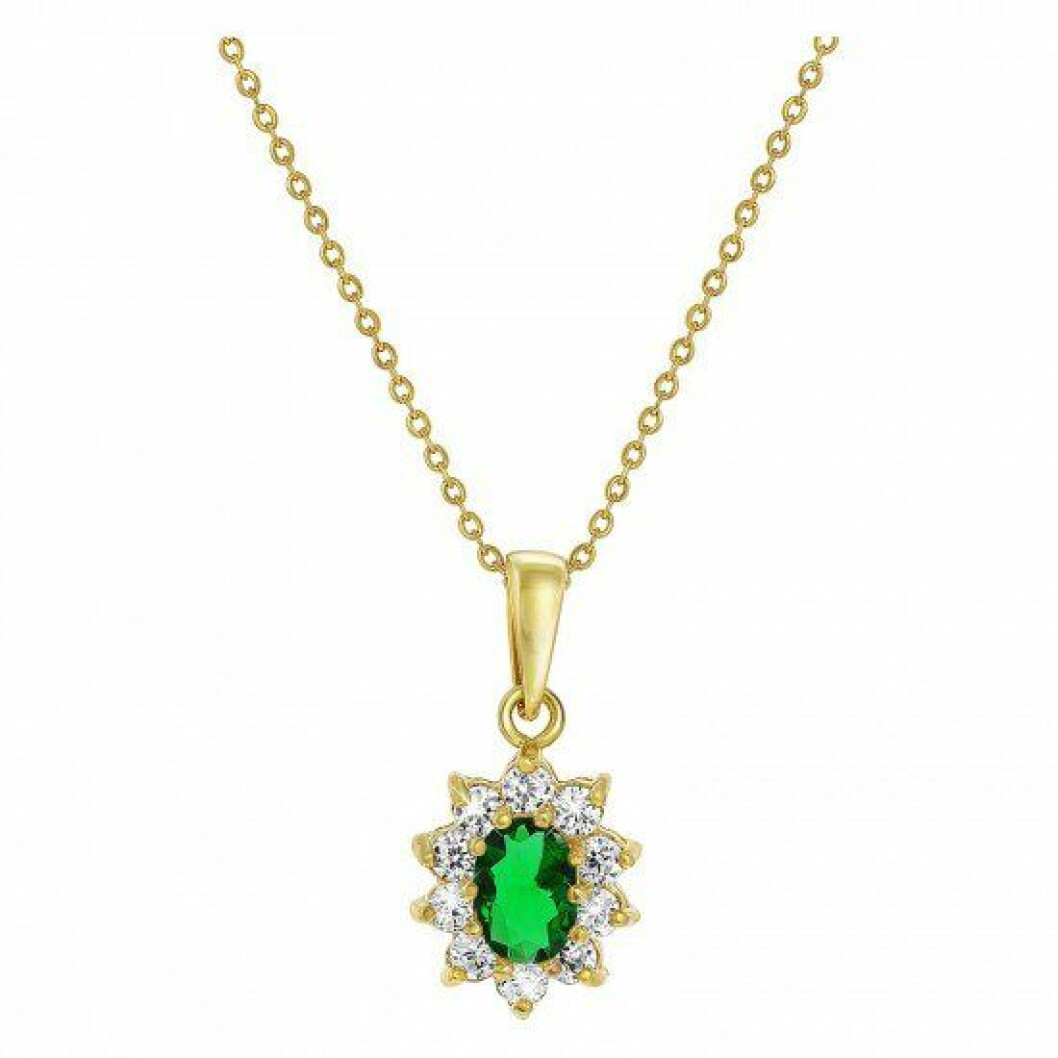 Grönt halsband