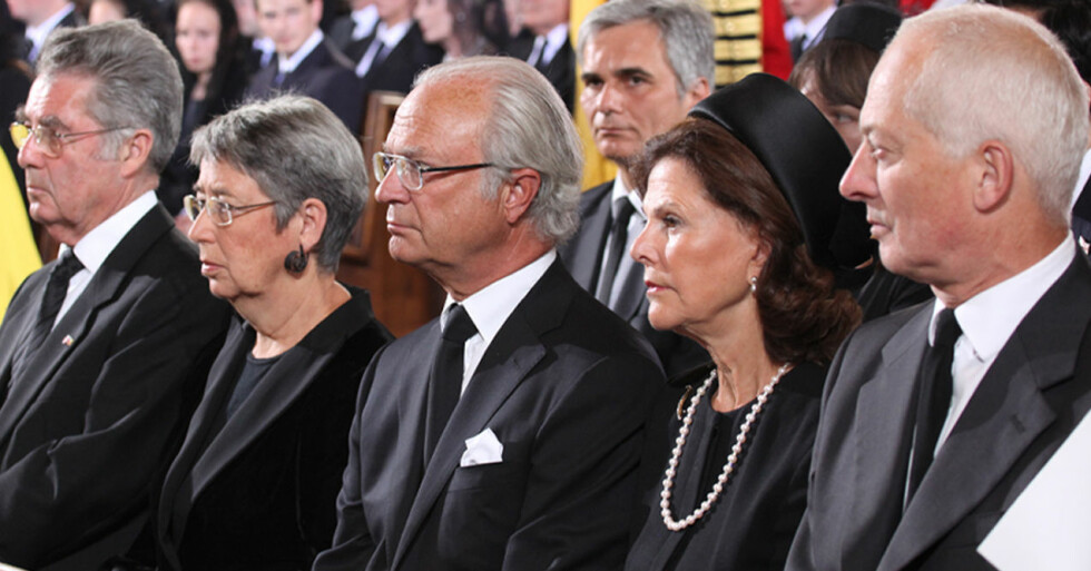 Heinz Fischer, Margit Fischer, kung Carl Gustaf, drottning Silvia, prins Hans Adam II of Liechtenstein