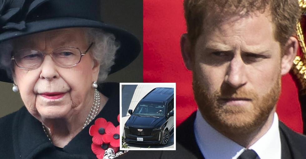 Drottning Elizabeth Prins Harrry Lämnat England Tillbaka i USA