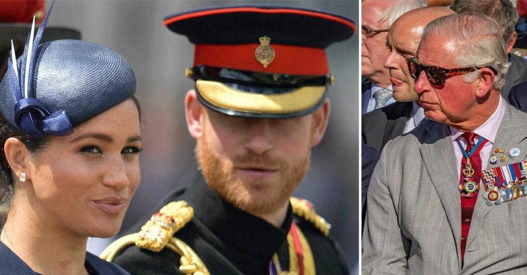 Meghan Markle och prins Harry och prins Charles