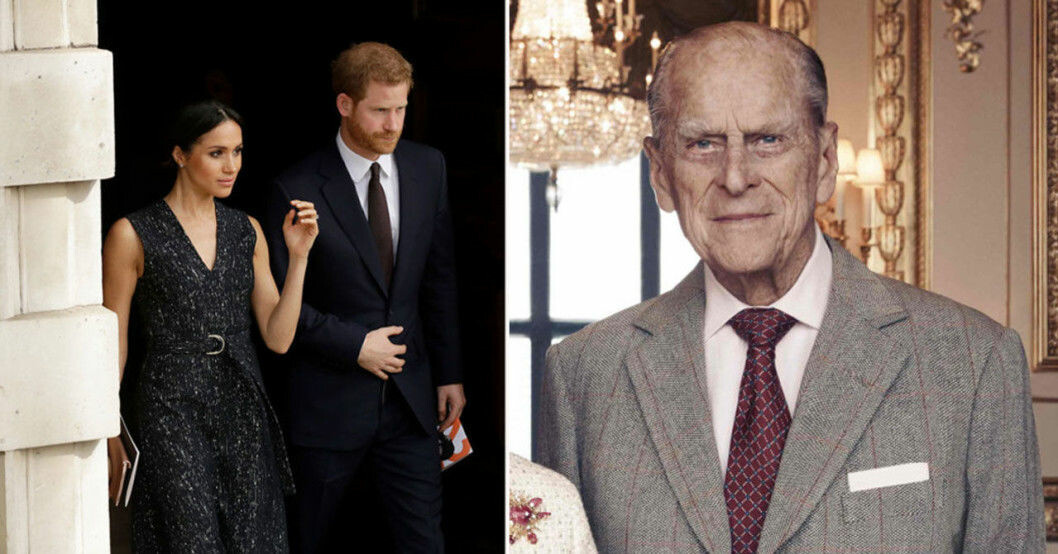 Meghan Markle, prins Harry och prins Philip