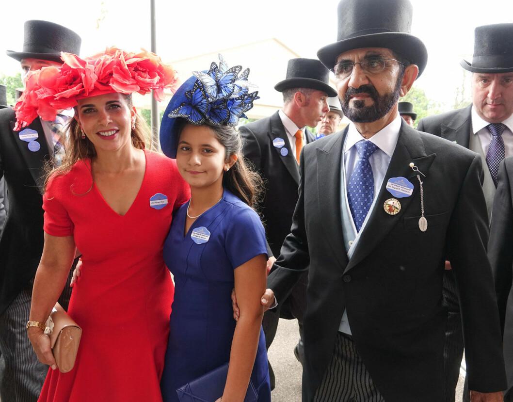 Prinsessan Haya med dottern Jalila och sin man, 2017.