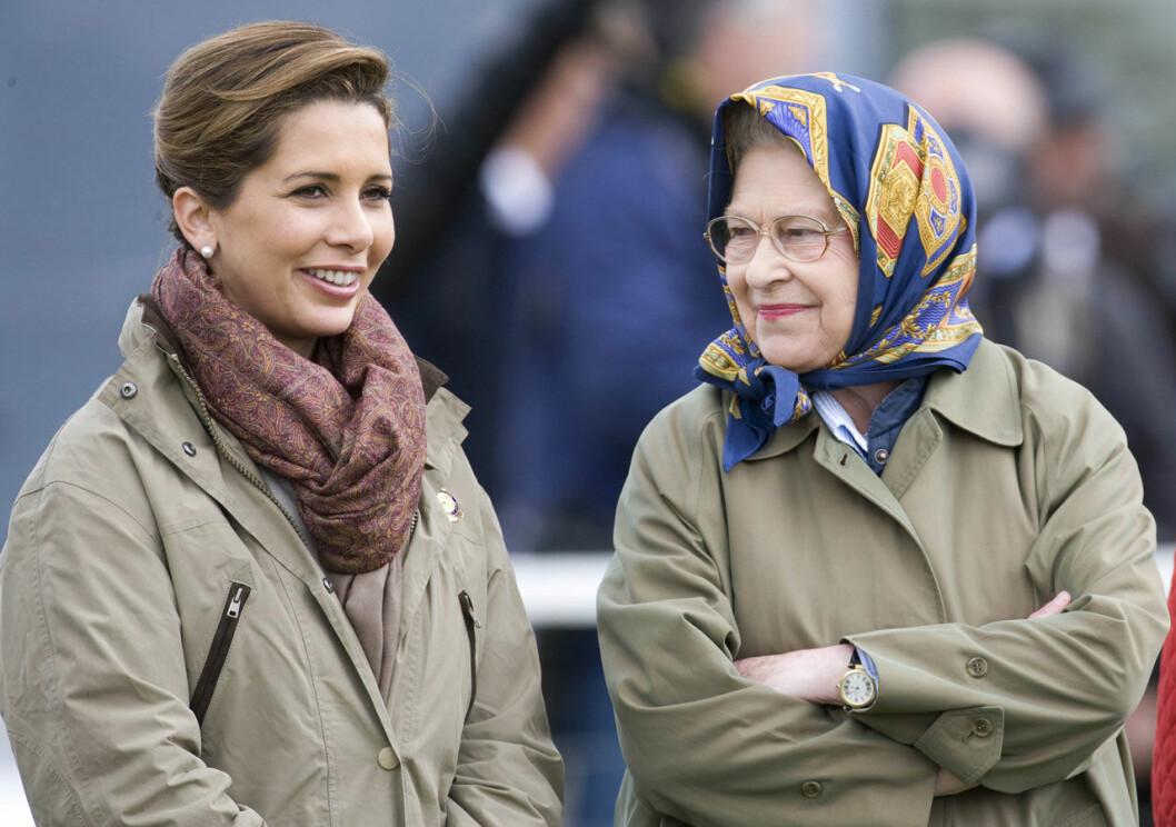 Prinsessan Haya med drottning Elizabeth.