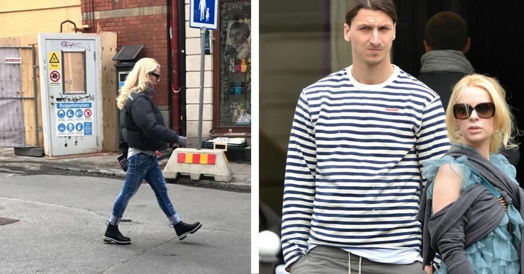 Helena Seger och Zlatan Ibrahimovic.