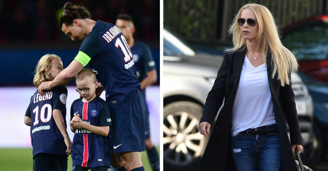 Helena har ansvar för sönerna när Zlatan är i Milano.