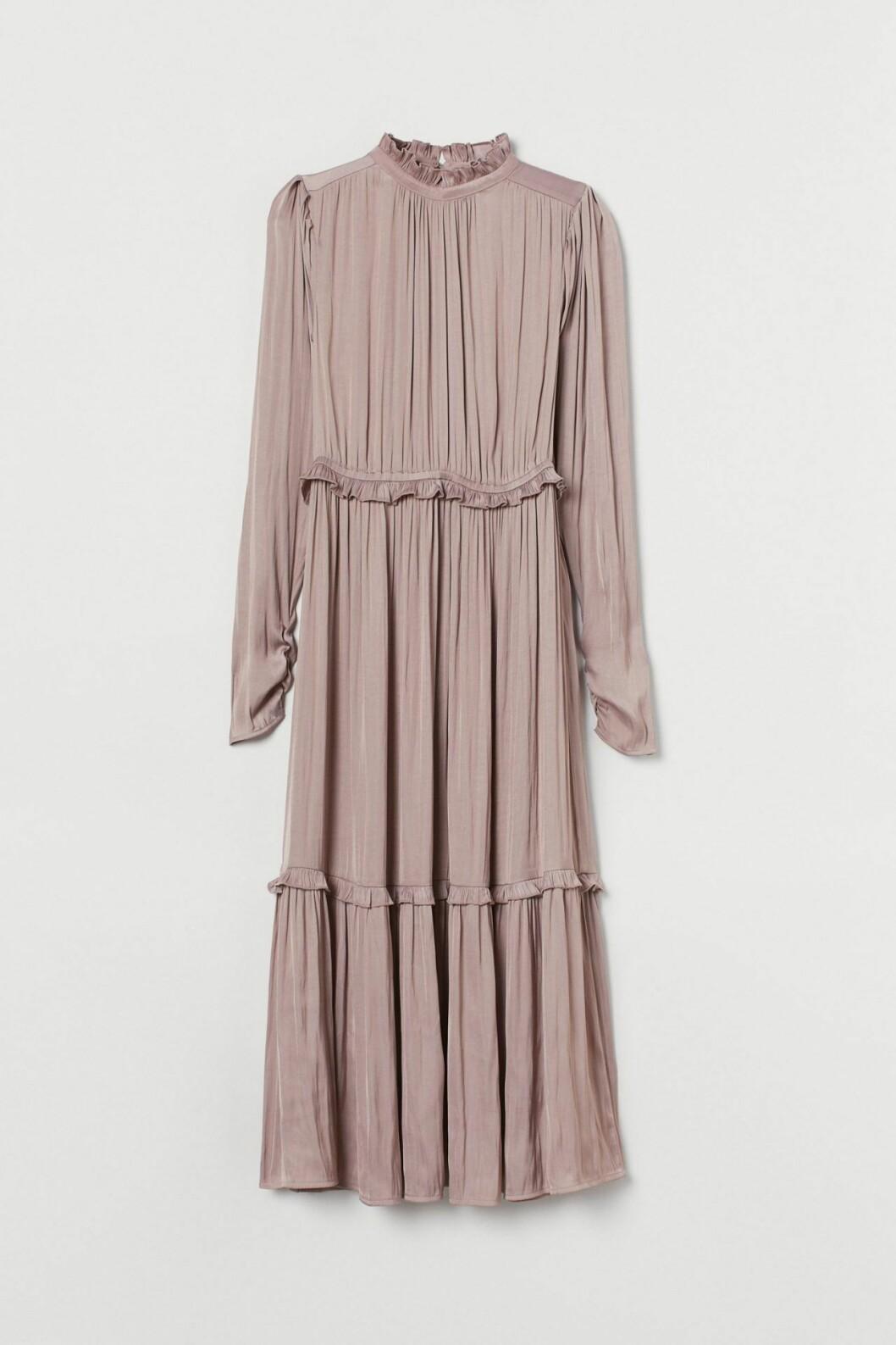 Puderrosa klänning HM