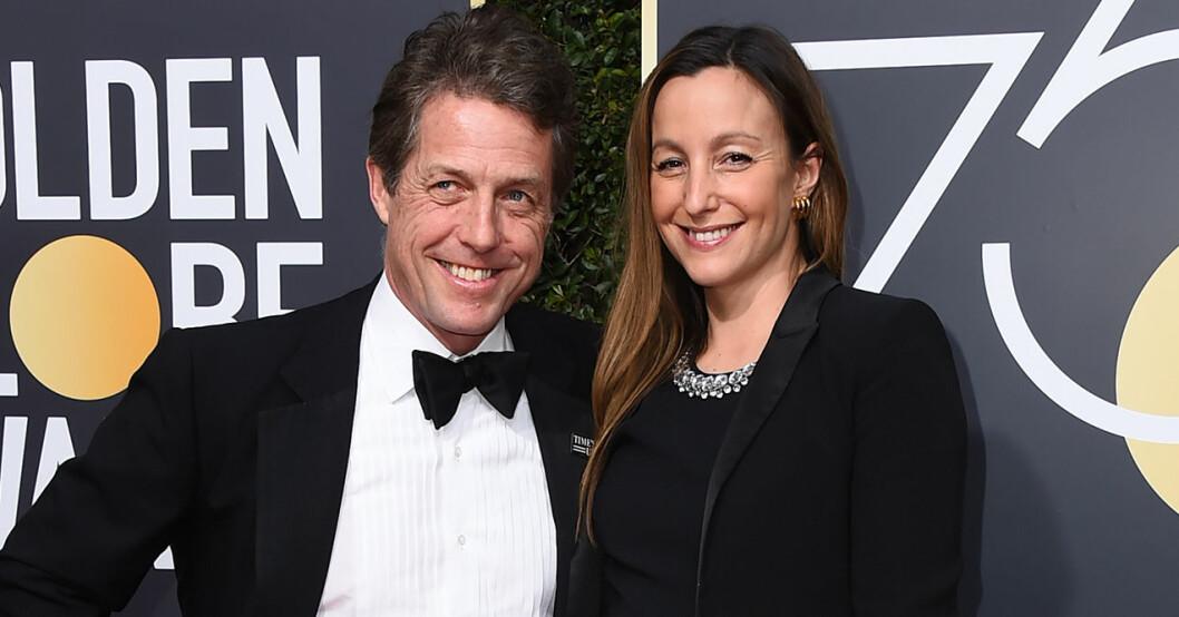 Hugh Grant och Anna Eberstein gifte sig 2018.