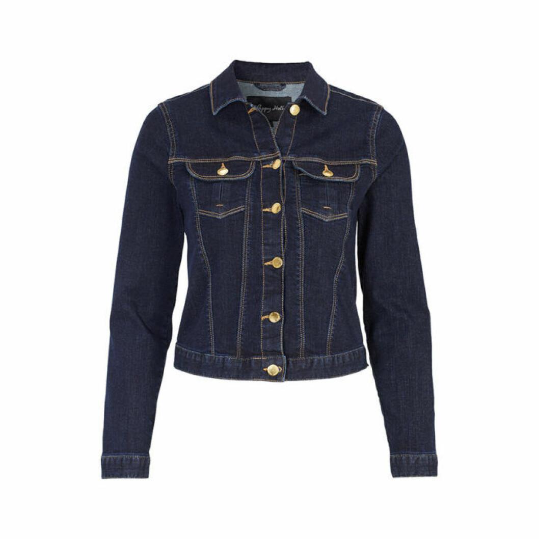 Klassisk mörkt blå jeansjacka