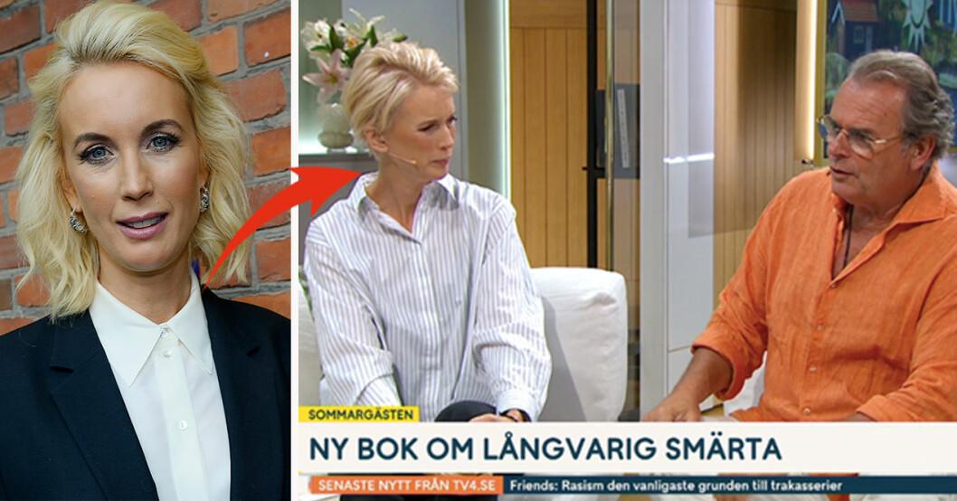 Jenny Strömstedt och Steffo Törnquist i TV4 Nyhetsmorgon