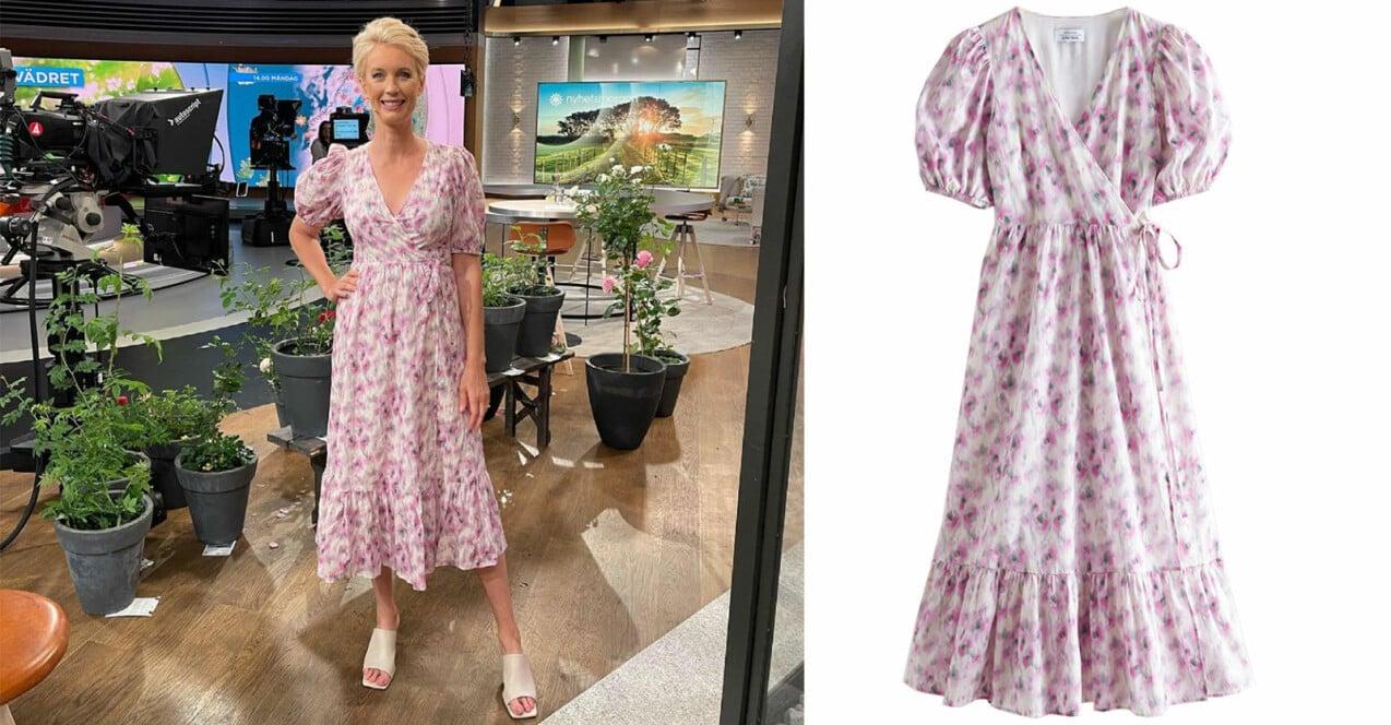 jenny strömstedt blommig klänning i TV4 Nyhetsmorgon