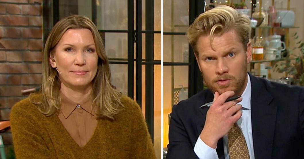Jenny Alversjö och Martin Järborg Nyhetsmorgon TV4